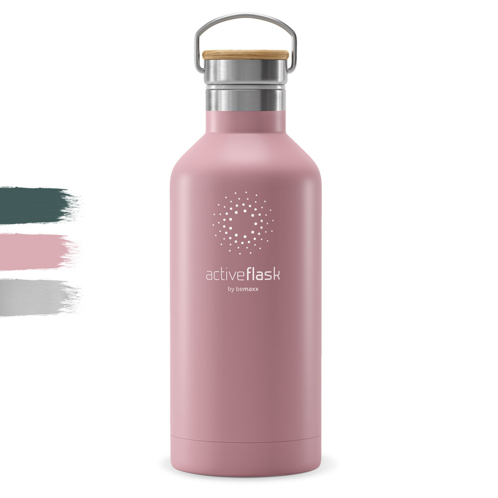 Trinkflasche Edelstahl ACTIVE FLASK Bamboo